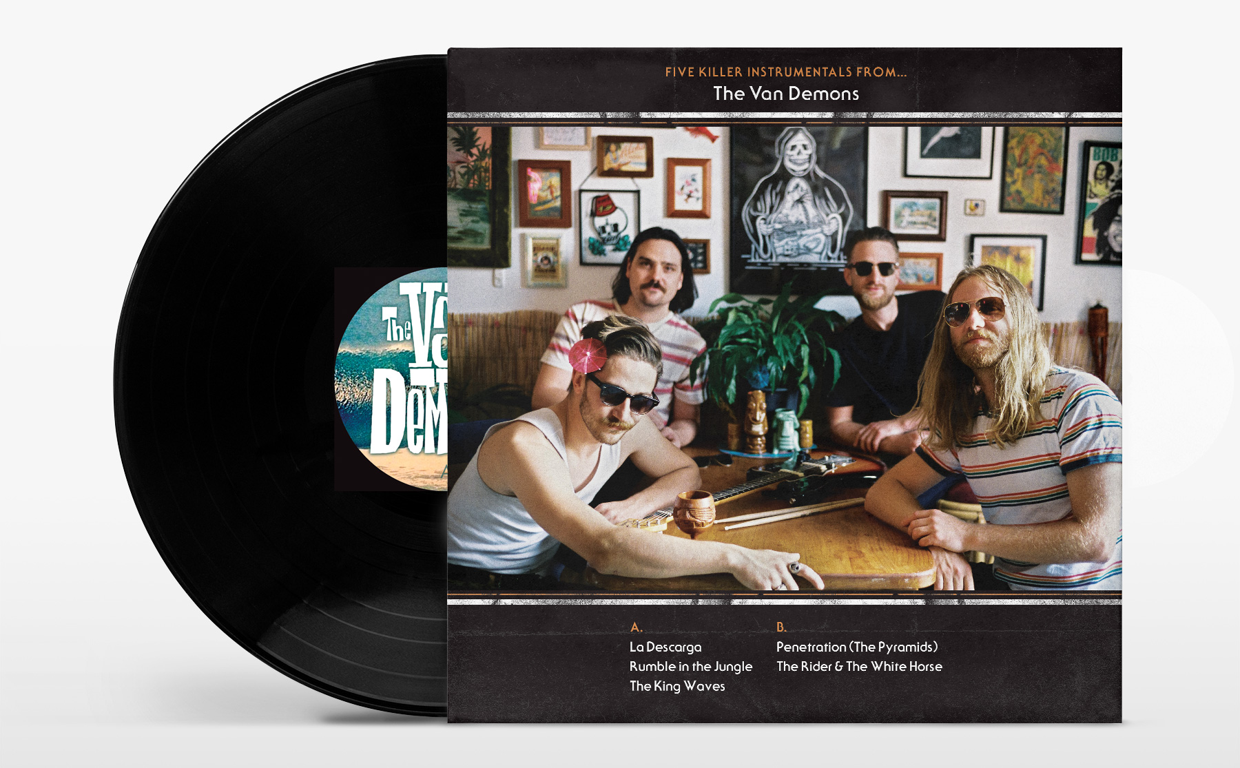 Honey Rogue Design Van Demons Album Artwork