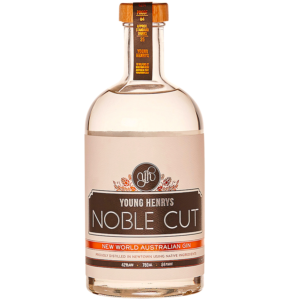 Honey Rogue Design Packaging Young Henrys Noble Cut Gin