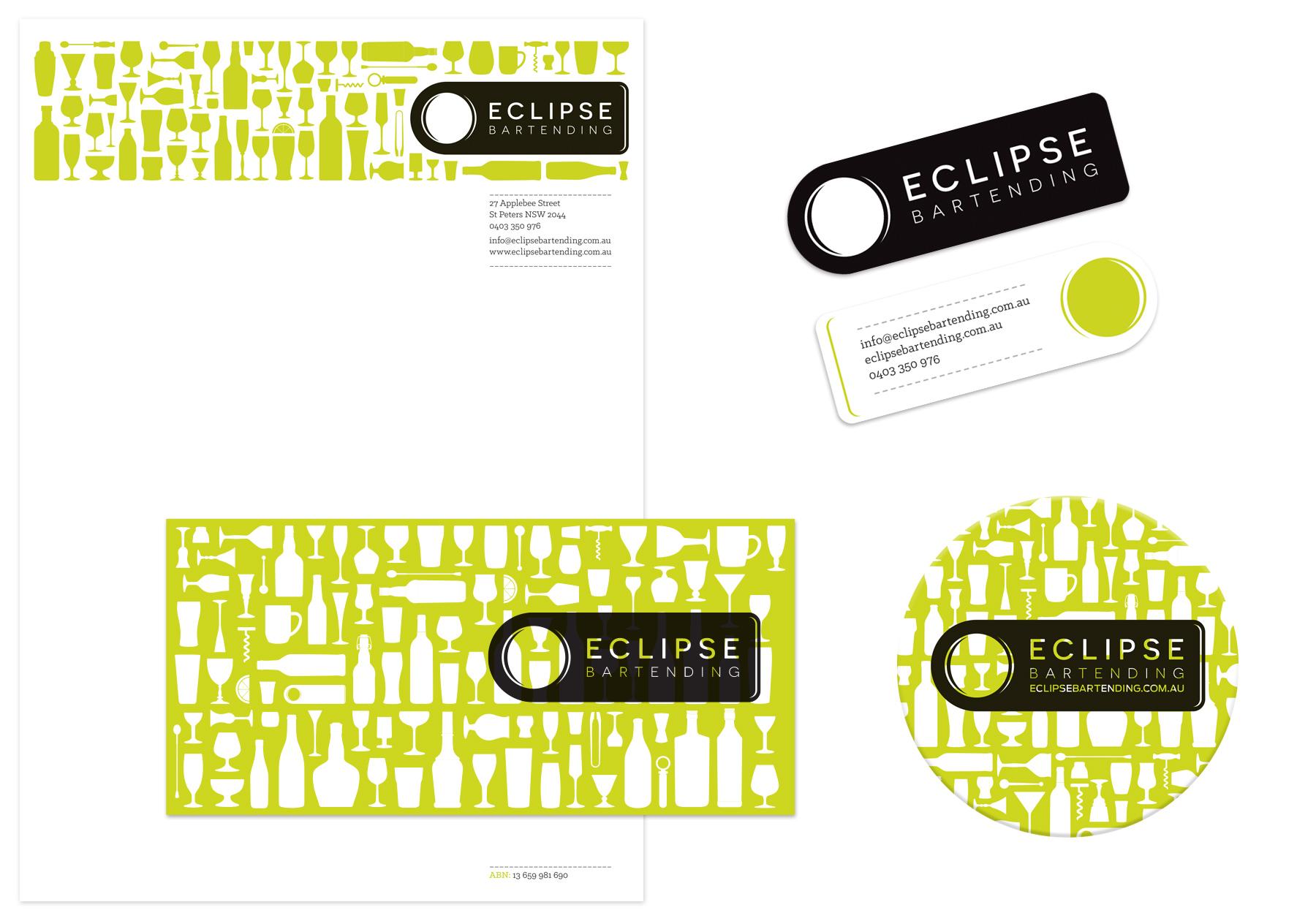 Honey Rogue Design Branding Eclipse Bartending