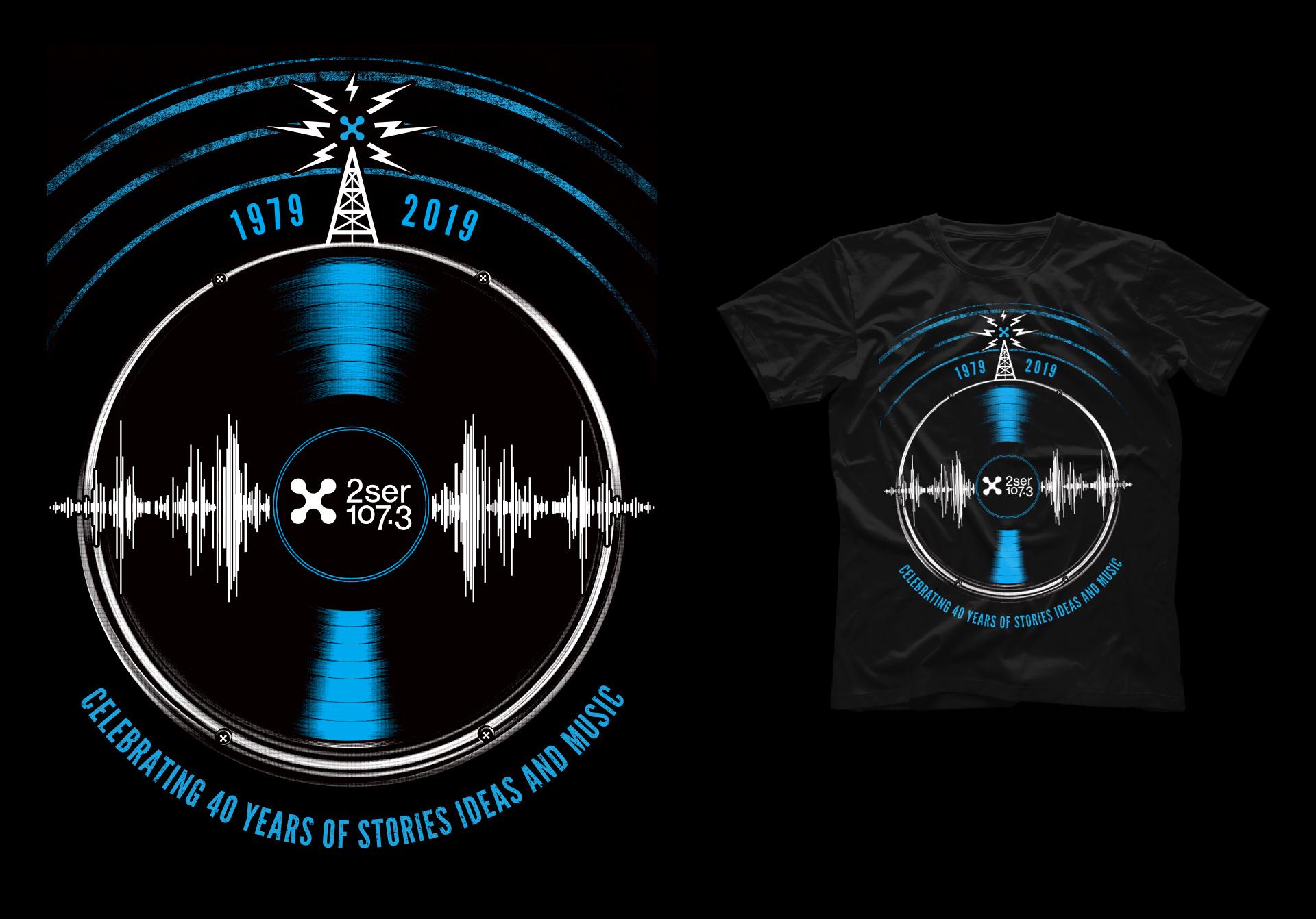 Honey Rogue Design Shirt 2SER 40th Birthday