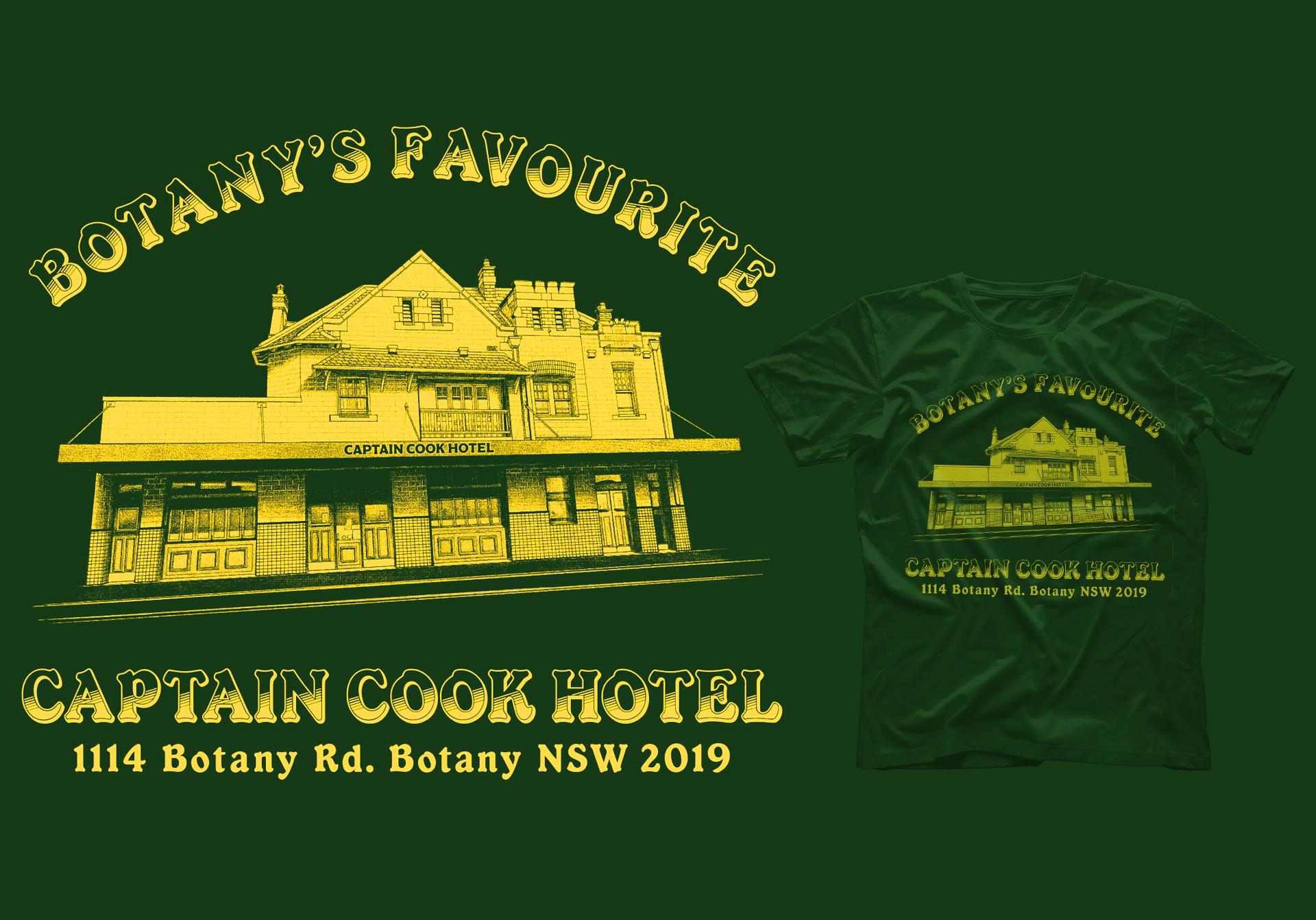 Honey Rogue Design Shirt Artwork Captain Cook Hotel Botany