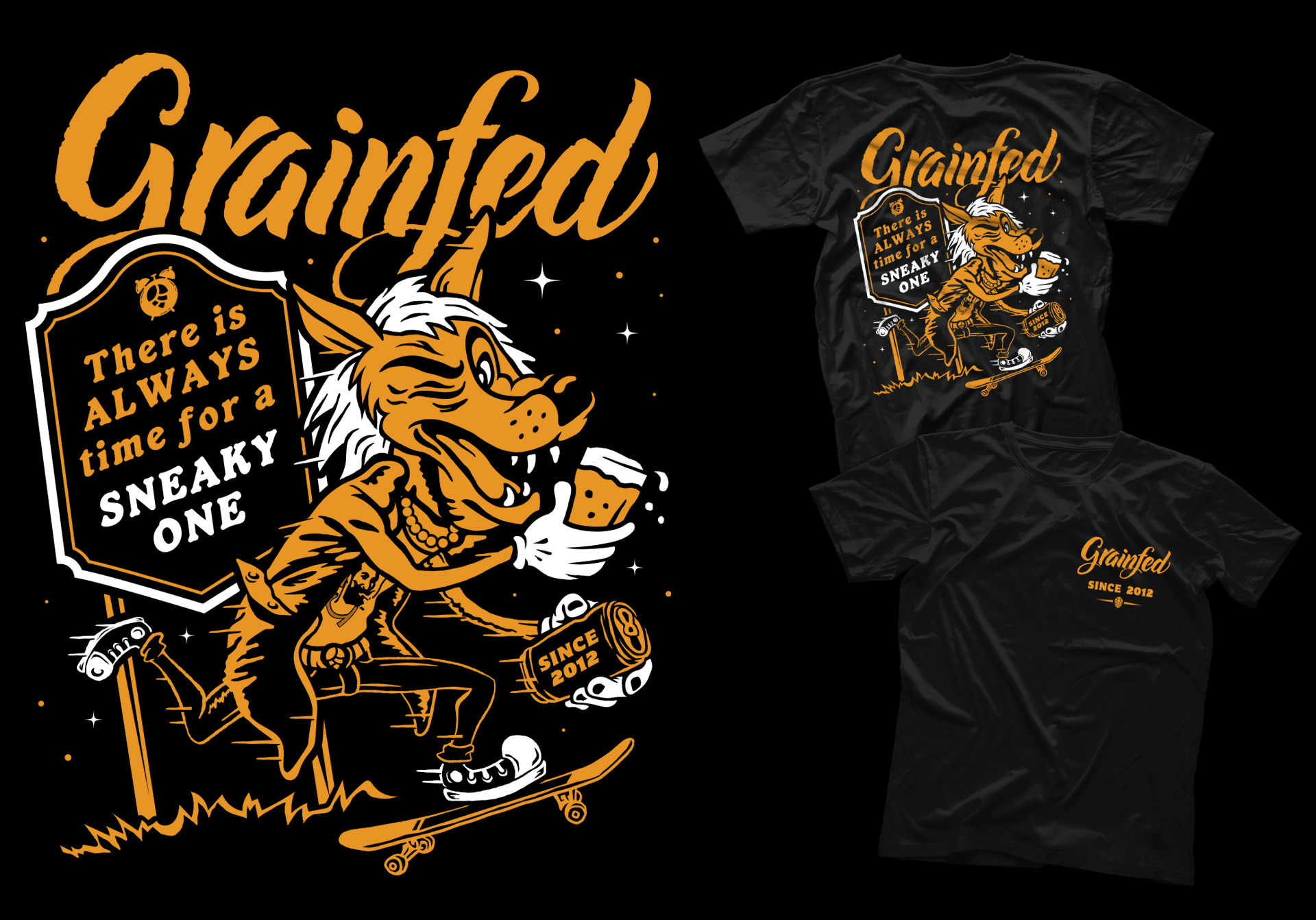 Honey Rogue Design Shirt Grainfed Brewing Sneaky One