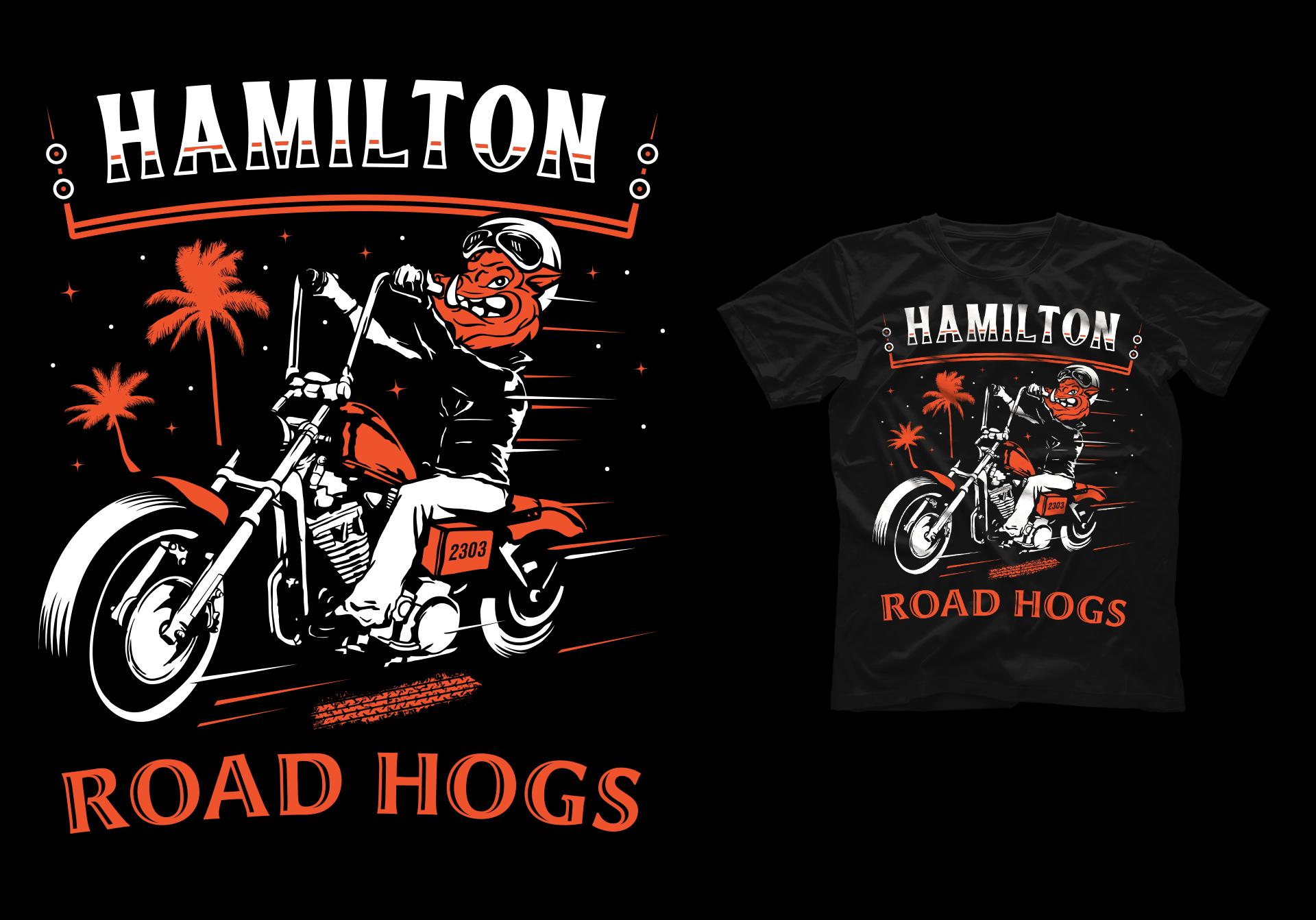 Honey Rogue Design Shirt Artwork Grainfed Brewing Hamilton Road Hogs