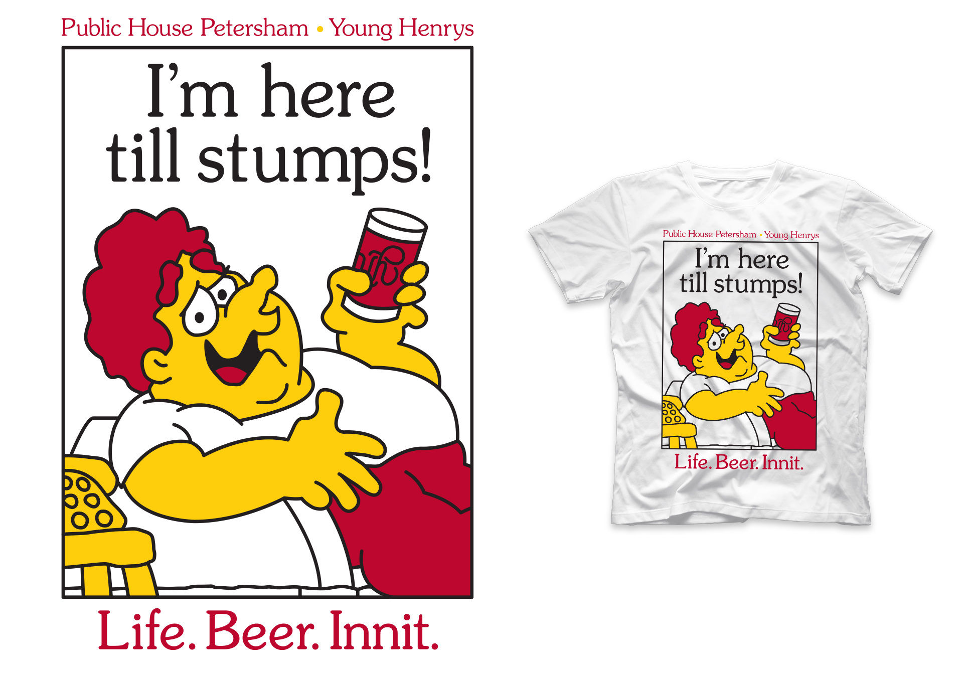 Honey Rogue Design Shirt Life Beer Innit Young Henrys