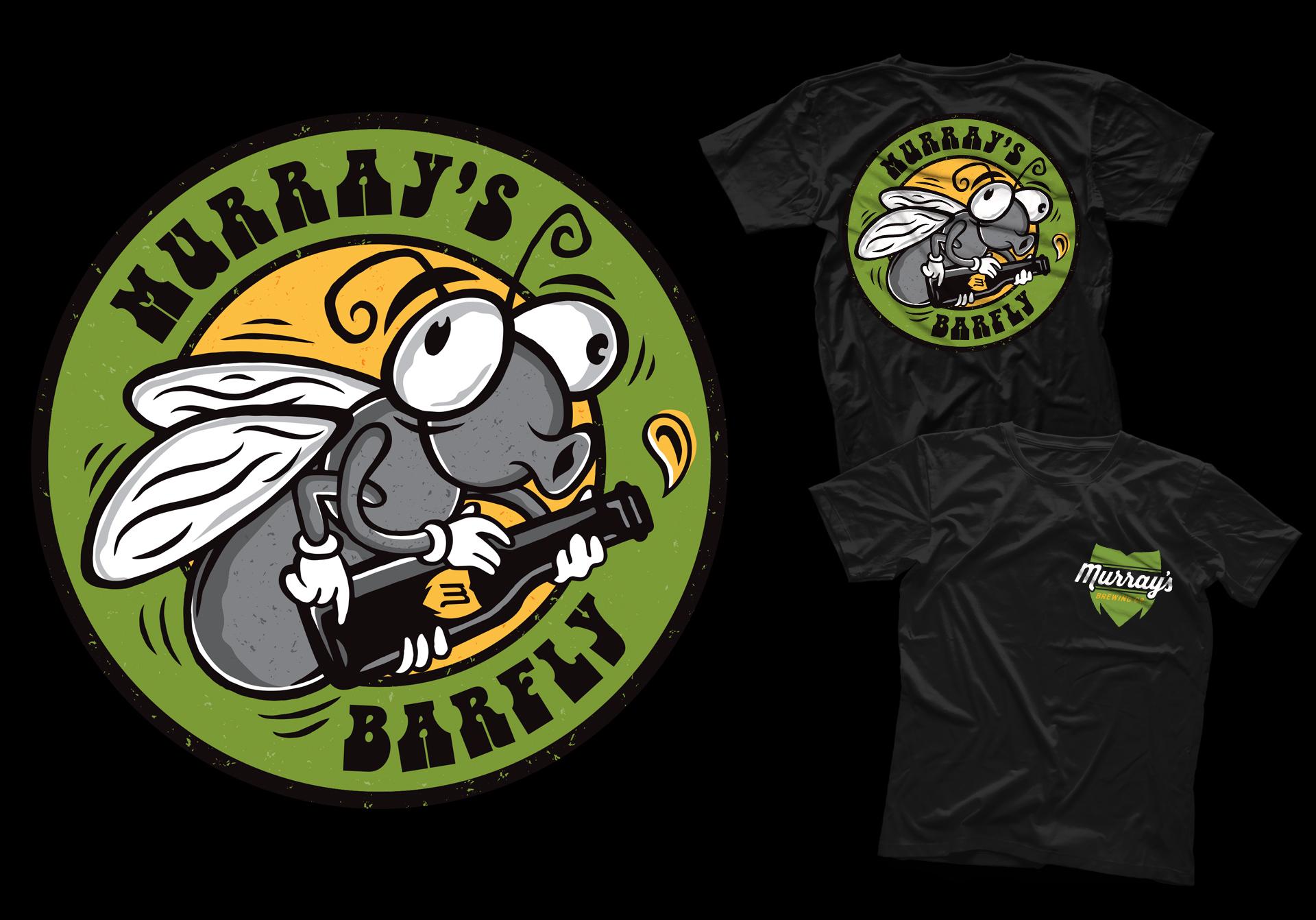 Honey Rogue Design Shirt Artwork Murray's Brewing Bar Fly