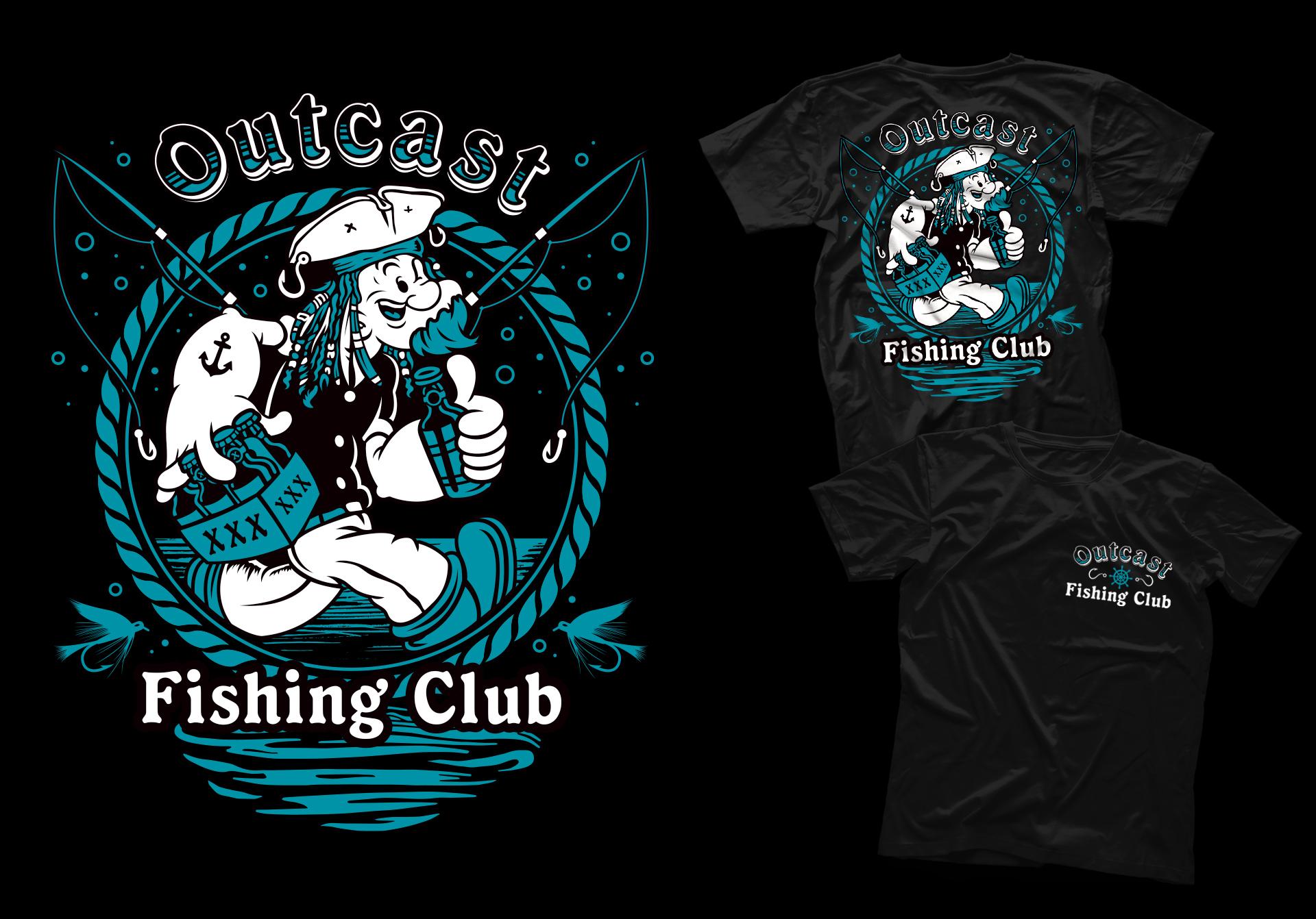 Honey Rogue Design Shirt Outcast Fishing Club