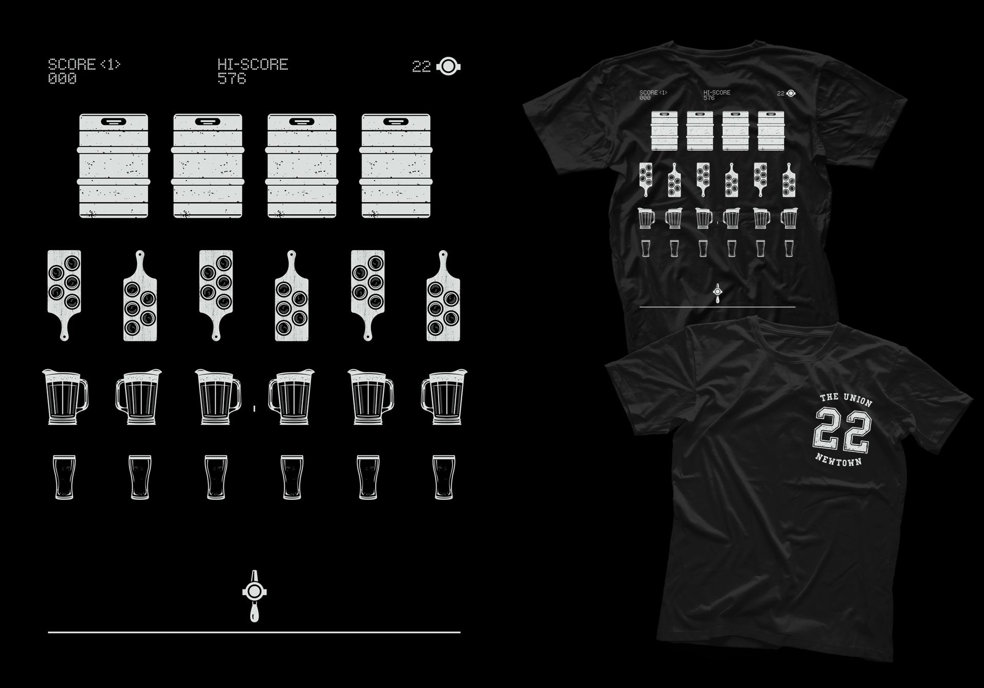 Honey Rogue Design Shirt Union Hotel Arcade Nights