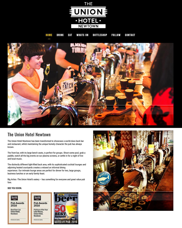 Honey Rogue Design Branding Union Hotel Newtown Website