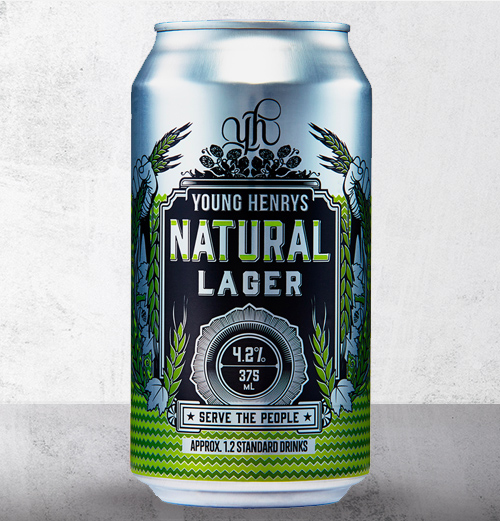 Honey Rogue Design Packaging Young Henrys Natural Lager