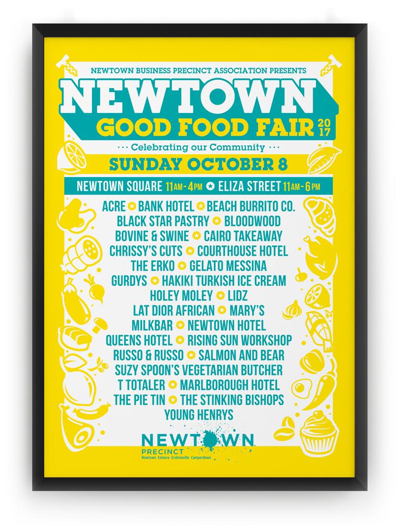 Honey Rogue Design Poster Newtown Good Food Fair