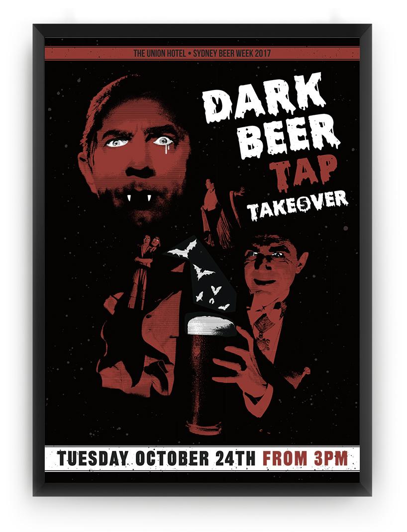 Honey Rogue Design Poster Union Hotel Dark Nights