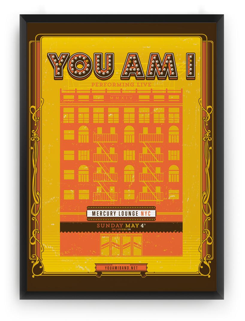 Honey Rogue Design Poster You Am I NYC Tour