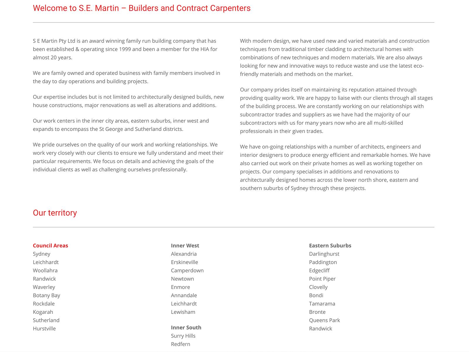 Honey Rogue Design SE Martin Builder Website