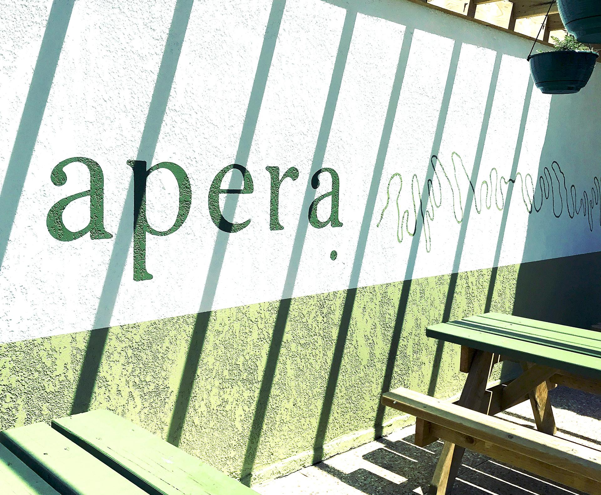 Honey Rogue Design Signage Apera Restaurant