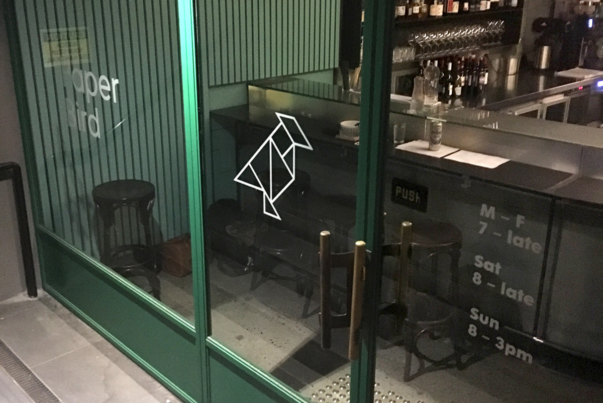 Honey Rogue Design Signage Paper Bird Restaurant