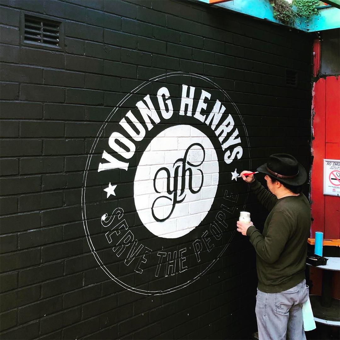 Honey Rogue Design Signage Young Henrys Lady Hampshire