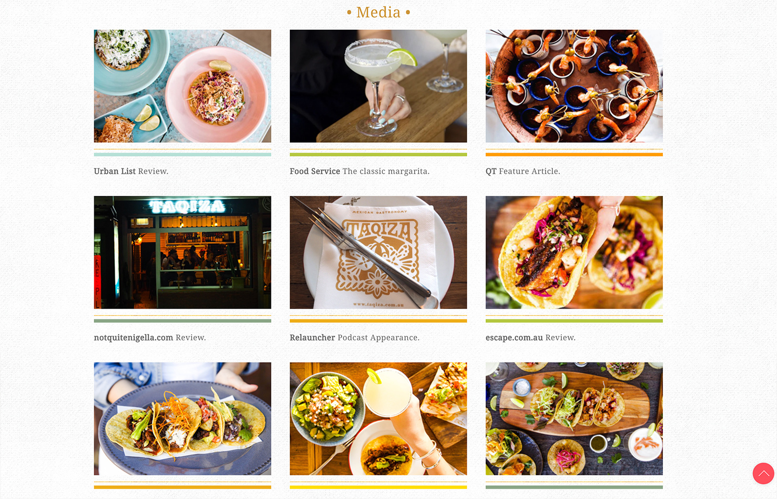 Honey Rogue Design Taqiza Mexican Bondi Website