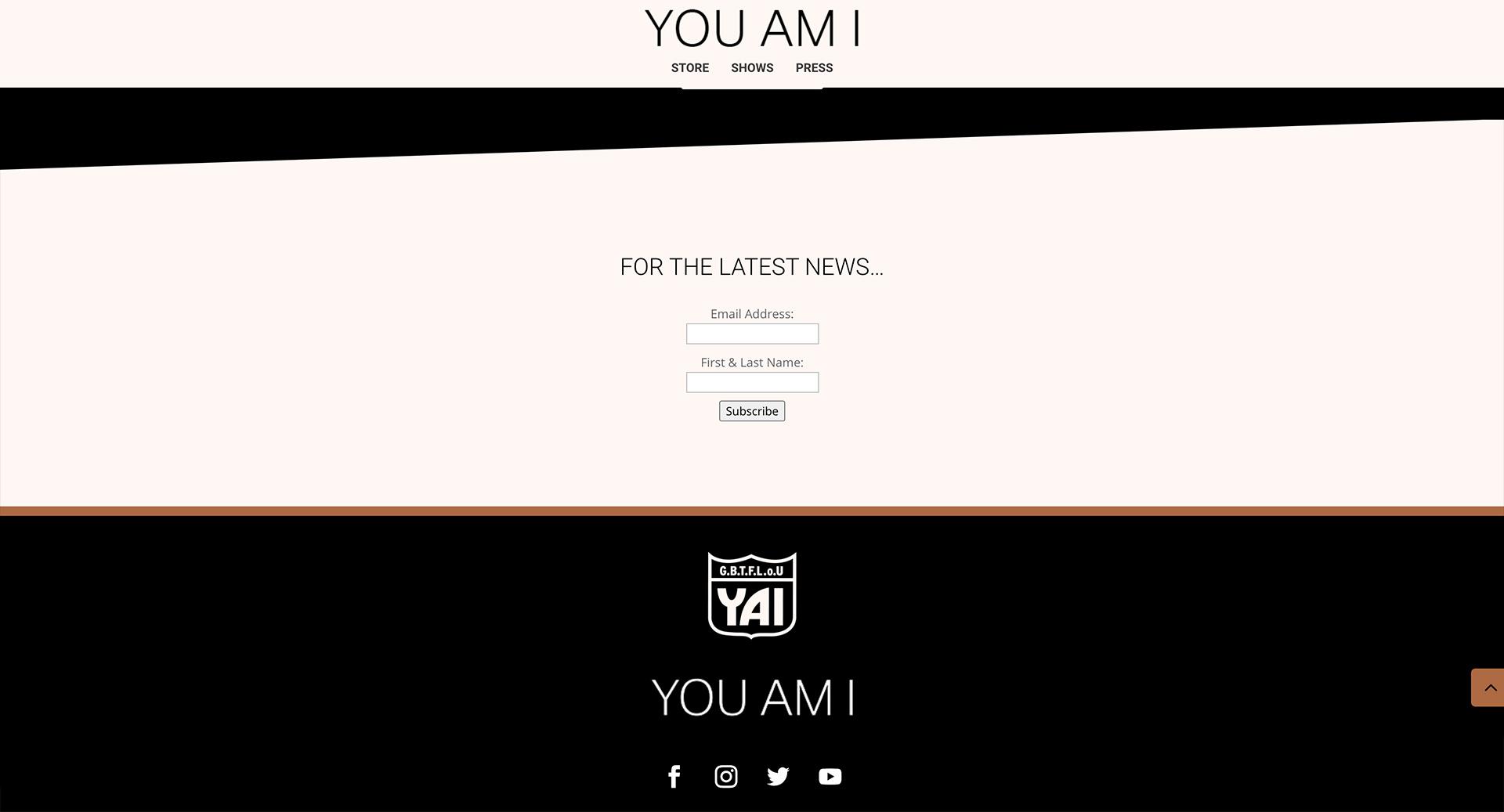Honey Rogue Design You Am I Website