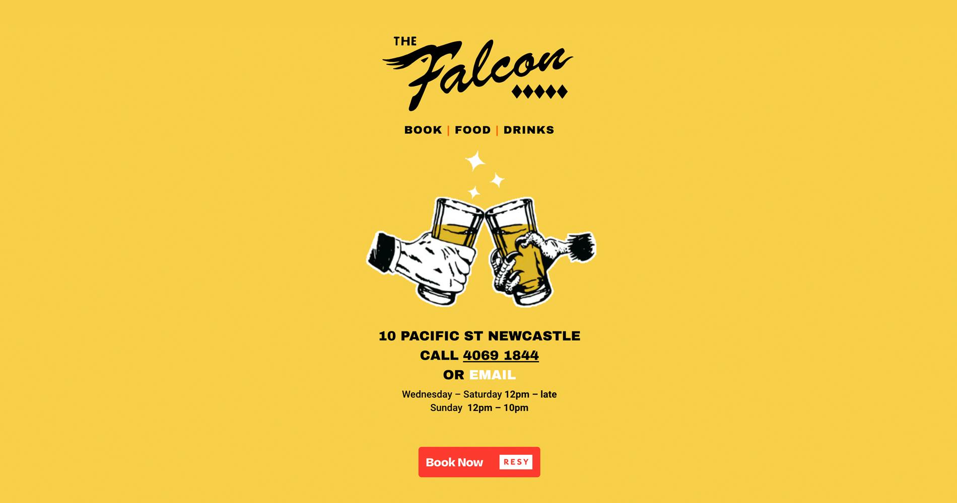 Honey Rogue Design The Falcon Website